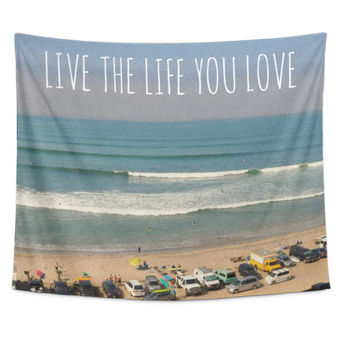 Wall Tapestry / Live the Life you Love /California Republic State of Mind - Cal31.com