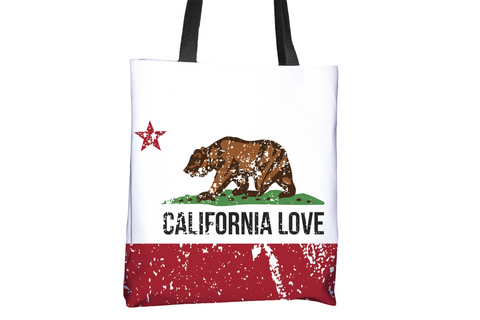 California Love Flag All-Over-Print Tote Bag - Cal31.com