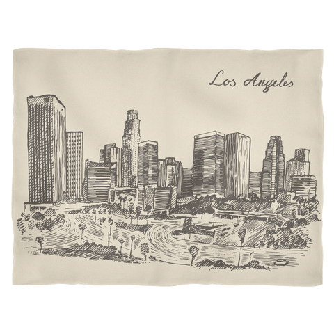 Los Angeles, California - Hand drawn downtown skyline - Cal31.com