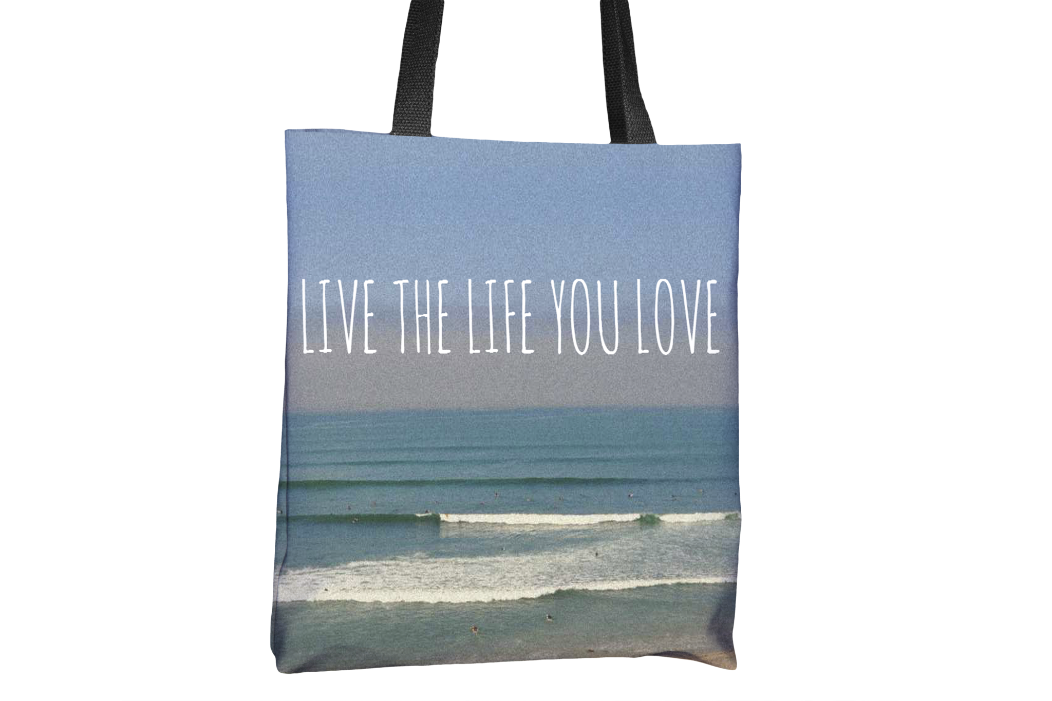 Live The Life You Love San Onofre California All-Over-Print Tote Bag - Cal31.com