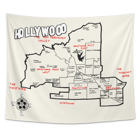 Wall Tapestry / California Republic / Hollywood, Los Angeles, CA - Cal31.com