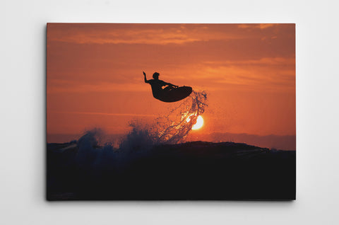 Sunset Jump Canvas Print Dave Nelson Signature Series - Cal31.com