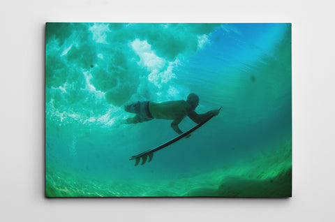 Duck Dive Under Canvas Print Dave Nelson Signature Series - Cal31.com