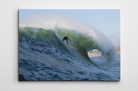 Mavericks Drop Canvas Print Dave Nelson Signature Series - Cal31.com