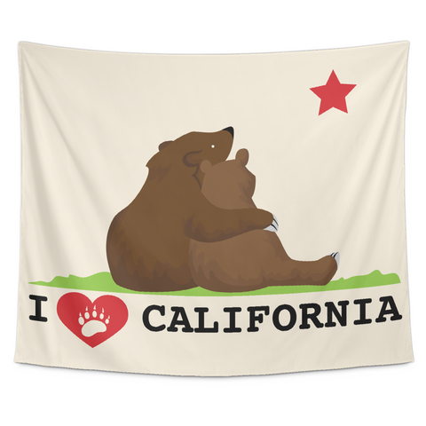 Wall Tapestry / California Republic State Flag / Love Bears / Star Gazing - Cal31.com