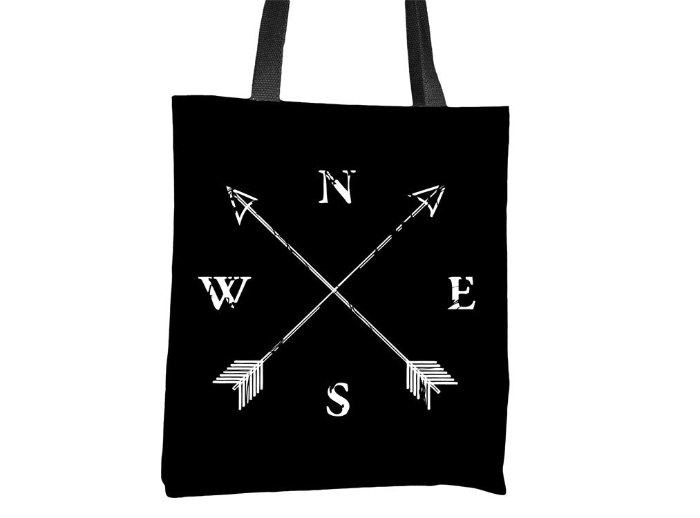 North South East West Compass Tote Bag - Cal31.com
