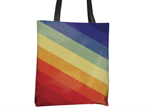 Rainbow Waves Tote Bag - Cal31.com