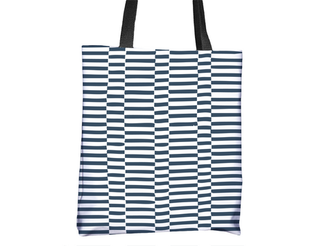 Hello Sailor! Striped Pattern Tote Bag - Cal31.com