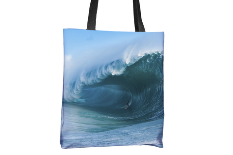 Teahupoo Wave All-Over-Print Tote Bag Dave Nelson Signature Series - Cal31.com