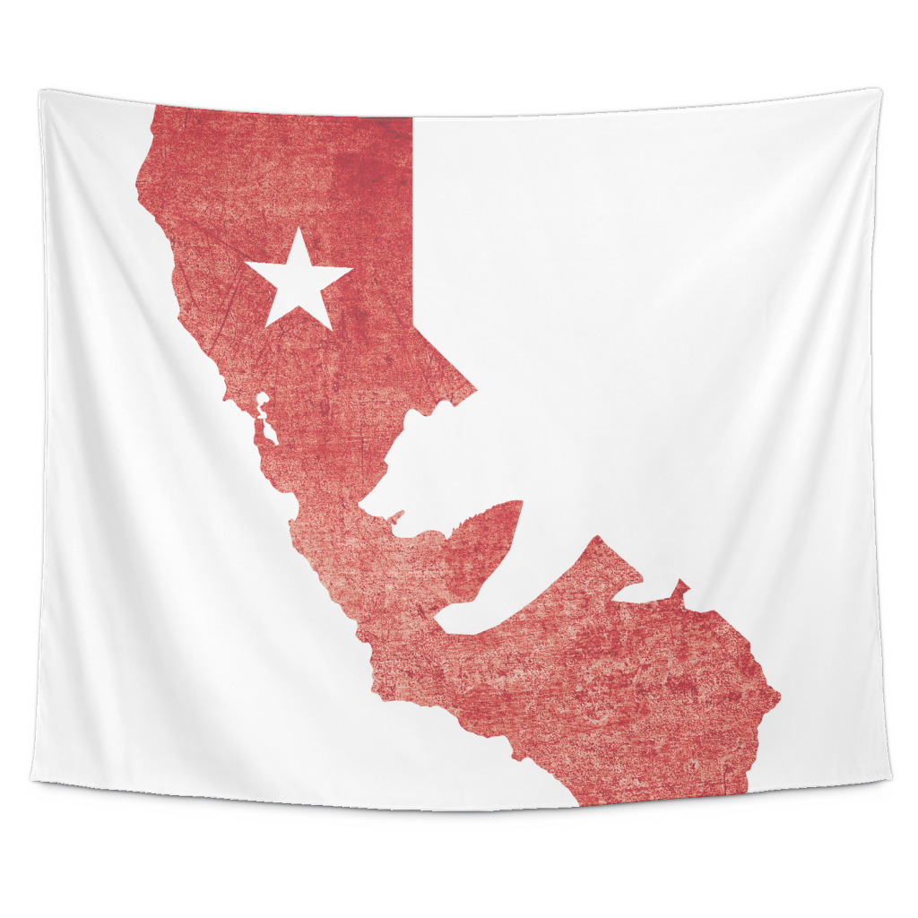 Wall Tapestry / California State Flag Map - Cal31.com