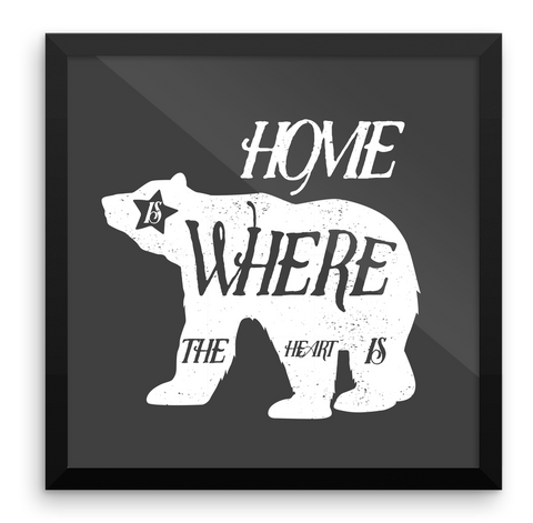 Wall Art / Hand drawn California Bear / Home is where the heart is! - Cal31.com