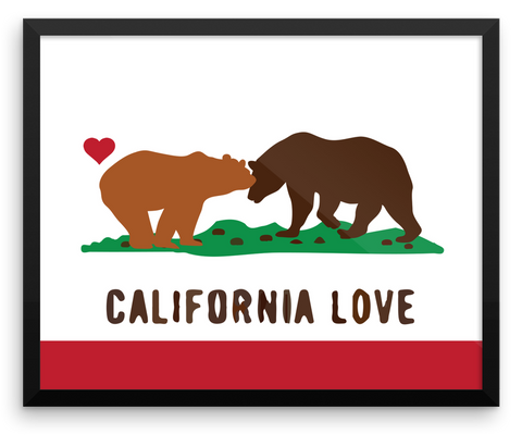 Wall Art / California Love Bears State Flag