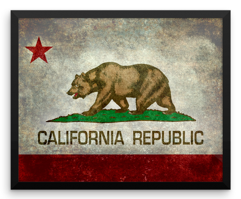 Wall Art / California State Flag (Rustic/Grunge) - Cal31.com