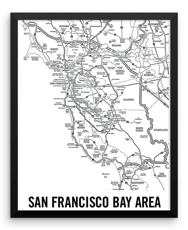 Wall Art / San Francisco Bay Area, California (city map) - Cal31.com
