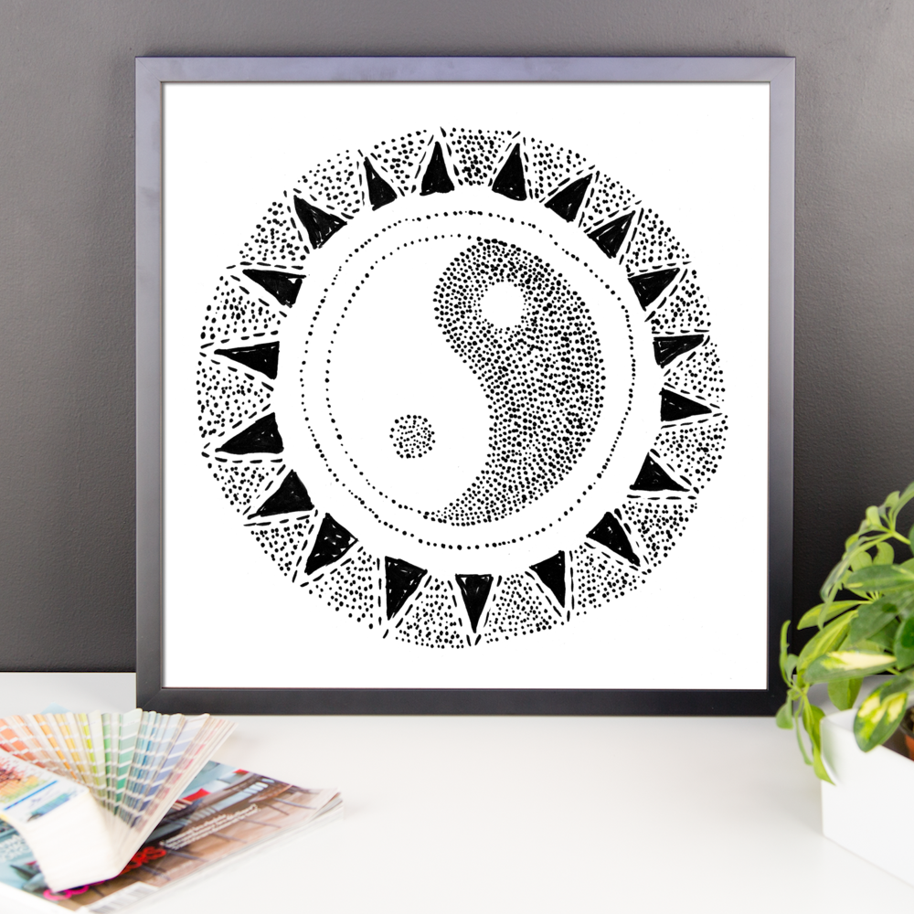 Wall Art / Hand-drawn Ying Yang - Cal31.com