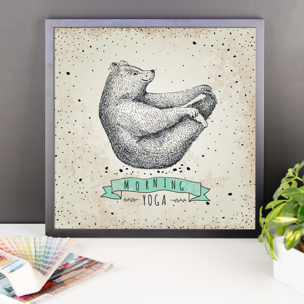 Wall Art / Morning Yoga Bear - Cal31.com