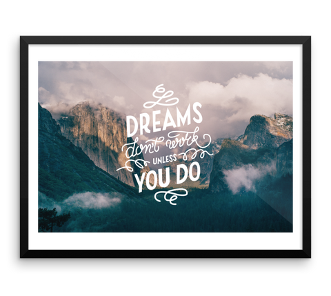 Wall Art / Dreams don't work unless you do - Cal31.com