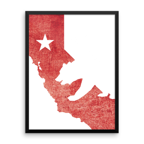 Wall Art / California State Flag + Bear - Cal31.com