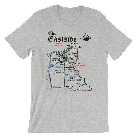 Eastside Los Angeles City Map T-Shirt by Eric Brightwell