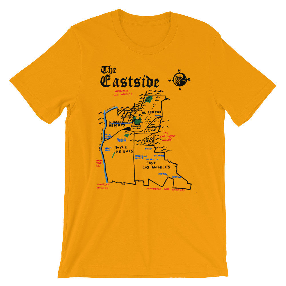 Eastside Los Angeles City Map T-Shirt by Eric Brightwell - Cal31.com