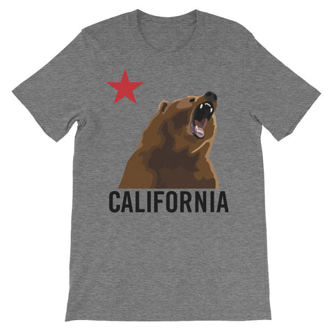 California Bear Growling T-Shirt