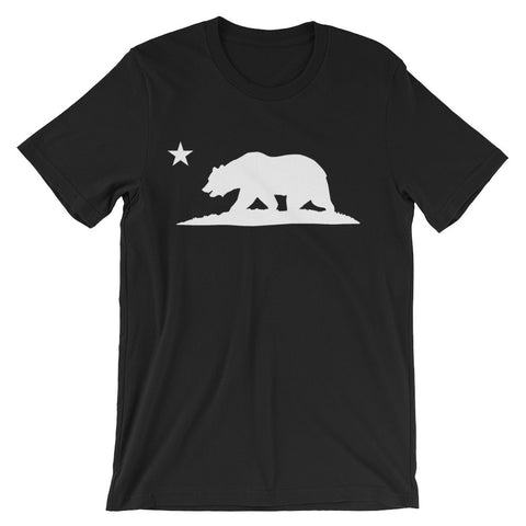 California Bear T-Shirt (White on Black)
