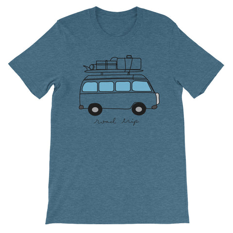 Vintage VW Bus T-Shirt 'Road Trip' - Cal31.com