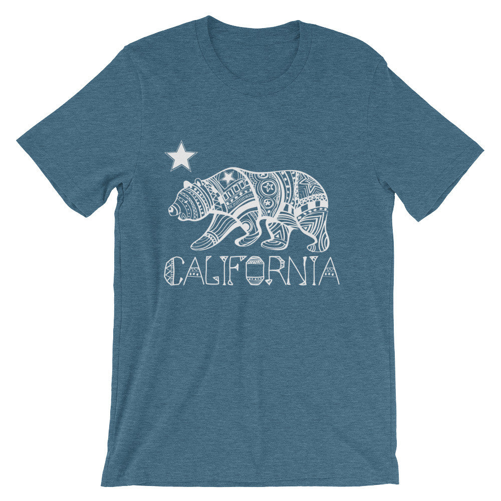 California State, Hand-Drawn Bear T-Shirt