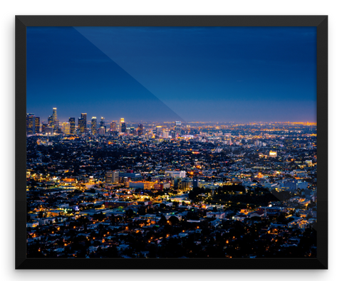 Wall Art / Los Angeles Downtown Skyline at Night (California Republic) - Cal31.com