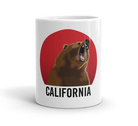 Coffee Mug / California Bear Growl at Sunset - Cal31.com