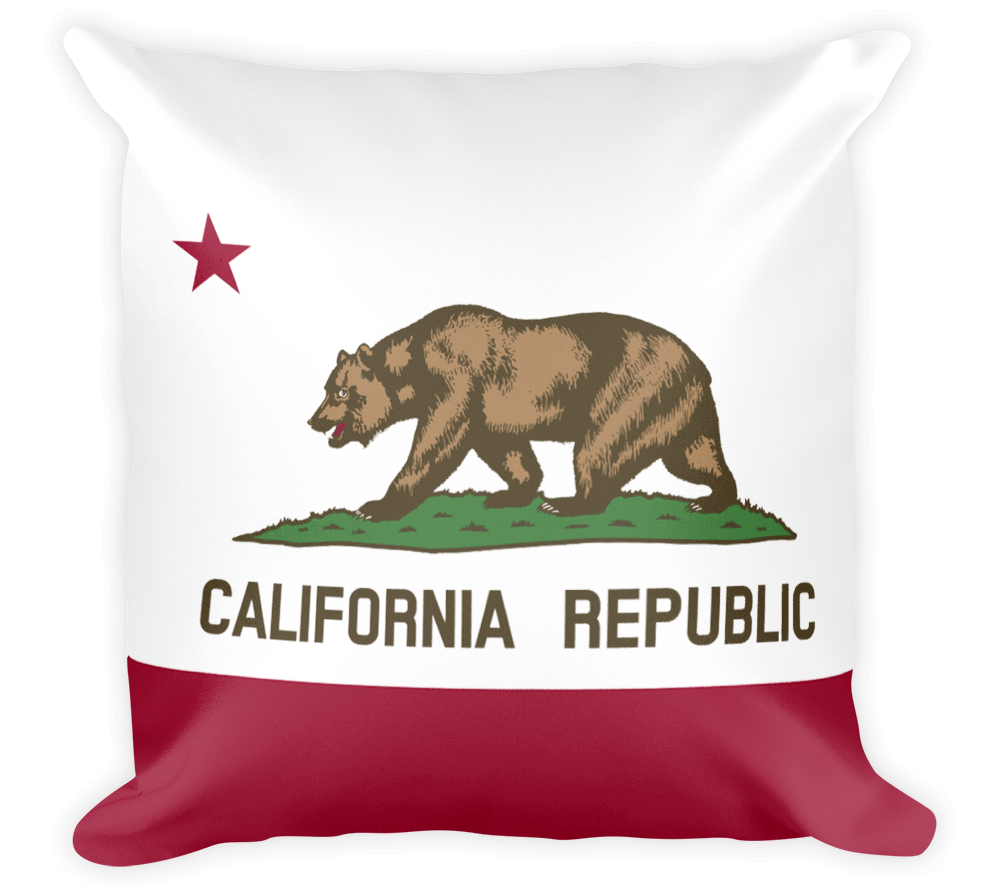 Decorative Throw Pillow / California State Flag - Cal31.com