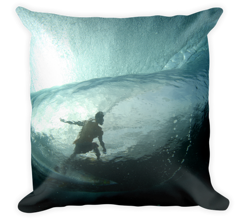 Decorative Throw Pillow / Surfing the Waves of the Pacific Ocean - Cal31.com