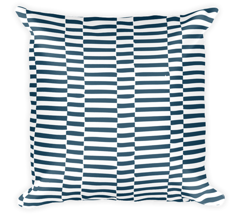 Decorative Throw Pillow / Blue & White Ocean Sailor Pattern - Cal31.com