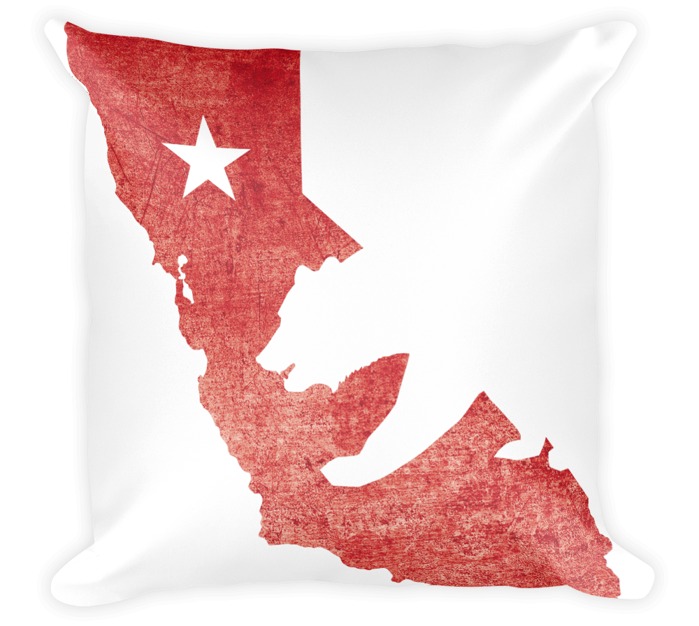 Decorative Throw Pillow / California State Flag + Bear - Cal31.com