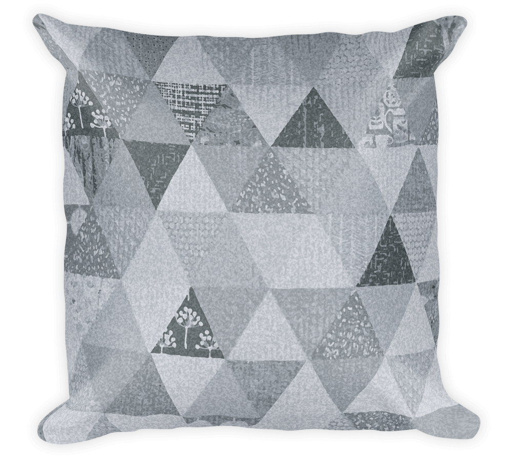 Decorative Throw Pillow / Triangle Pattern - Cal31.com