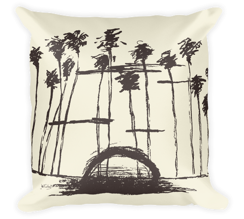 Decorative Throw Pillow / California Palms & Sunset in Los Angeles - Cal31.com