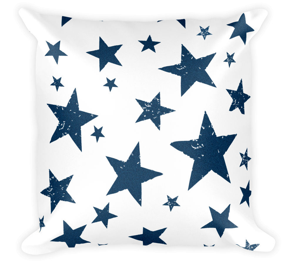 Decorative Throw Pillow / Be A California Star Pattern Pillow - Cal31.com