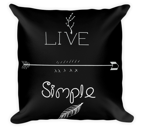Decorative Throw Pillow / Live Life Simple or California Style - Cal31.com
