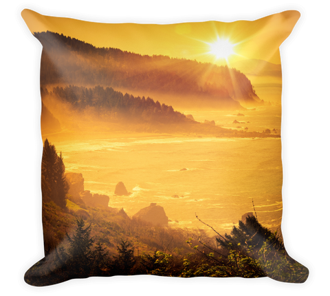 Decorative Throw Pillow / California Cost; Golden Sunrise - Cal31.com