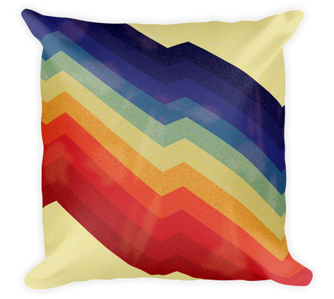 Decorative Throw Pillow / Rainbow Pattern - Cal31.com
