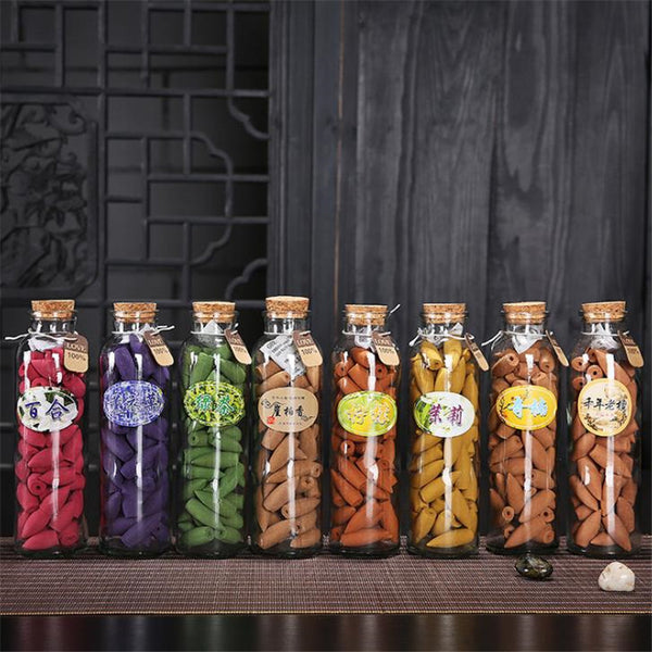 Bottled Oriental Incense Cones