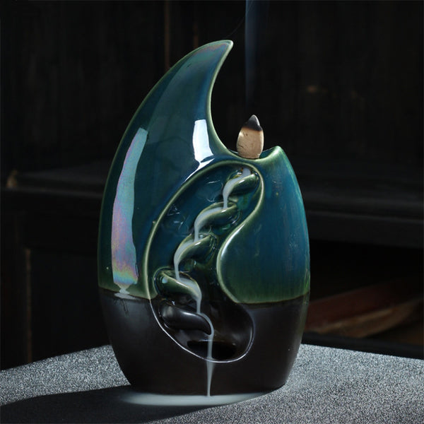 Wave Backflow Incense Burner
