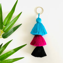 Three Tassel Keychain