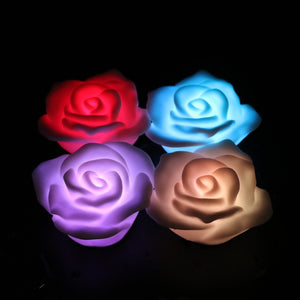 Romantic 7 Color Changing Rose Flower LED Night Light Lamp