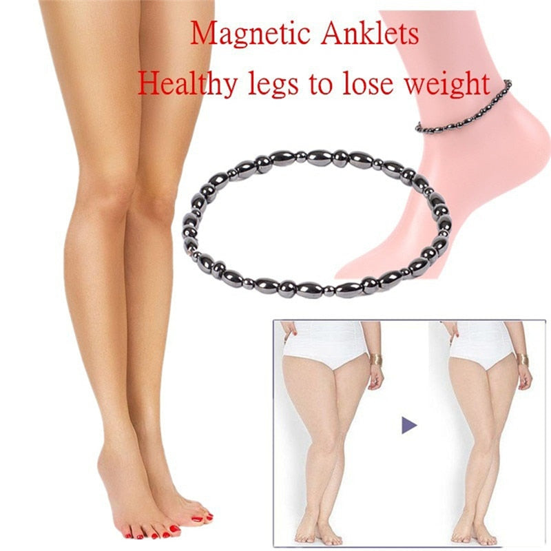 1Pc Magnetic Therapy Health Care Loss Weight Anklet Stone Magnetic Therapy Bracelet Anklet Product Slimming Health Jewelry