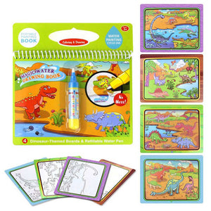 8 Styles Magic Water Drawing Board Coloring Book & Doodle Painting Pen Early Educational Toys for Kids Children Gift