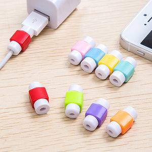 10pcs USB Cable Protector Winder Earphone Wire Data Line Cord Cover Charger Cable Protective Case For iPhone Travel Accessories