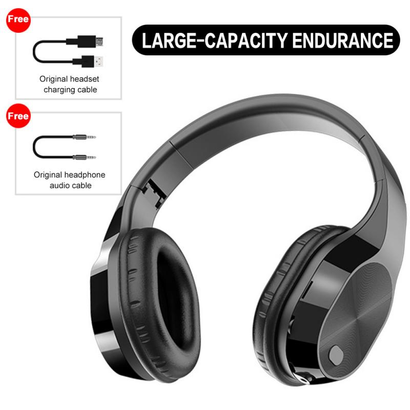 Auriculares Bluetooth Earphone T5 HiFi Active Noise Cancelling Wireless Bluetooth 5.0 Headphones Portable Headset With Mic