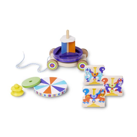 Melissa & Doug (First Play) Carousel Pull Toy