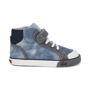 See Kai Run (Dane) Washed Denim High Tops